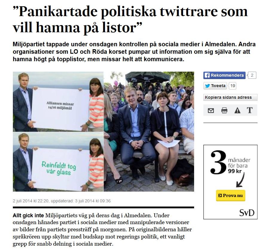 panikartade politiker