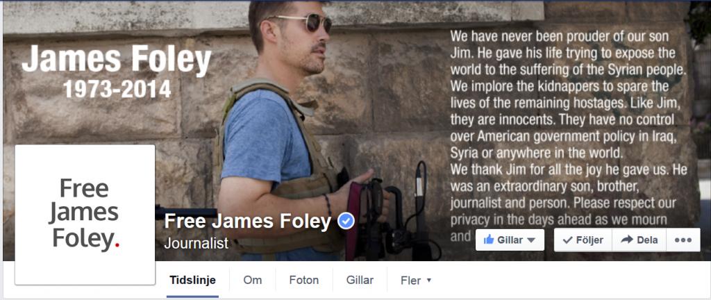 JAMES FOLEY FACEBOOK