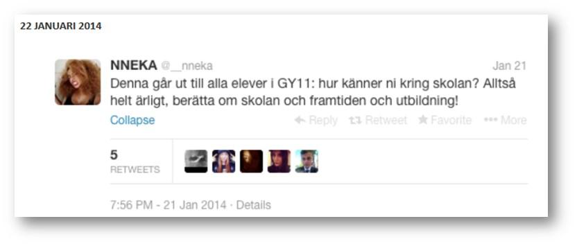 björklundsskola första tweeten