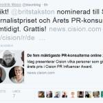Nominerad som PR-konsult OCH journalist?!