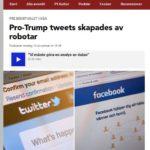 Trump, twitter och robotar