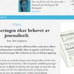 Journalistiken är en möjlighet och inte ett hot