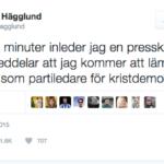 Göran Hägglund och de sociala medierna