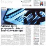 Sverigedemokraternas och deras svans underminerar demokratin