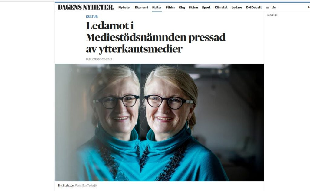 Dagens Nyheter har intervjuat mig om hur alternativmedier på högerkanten sedan en längre tid publicerat anklagelser mot mig.  Jag ser publiceringarna som ett led i alternativmediernas försök att påverka tjänstemän och myndighetsanställda i en bebrövad metod som är effektiv.